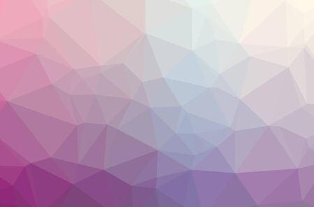 Illustration of abstract Purple horizontal low poly background. Beautiful polygon design pattern. Useful for your needs.