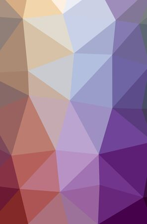 Illustration of abstract Purple vertical low poly background. Beautiful polygon design pattern. Useful for your needs. Stock Photo