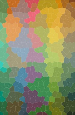Abstract illustration of blue, green, orange Little Hexagon background.