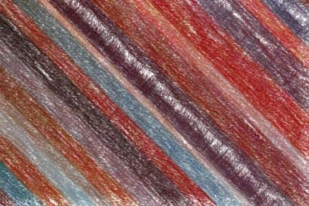 Red and yellow stripes Wax Crayon with low coverage abstract paint background. Stock Photo