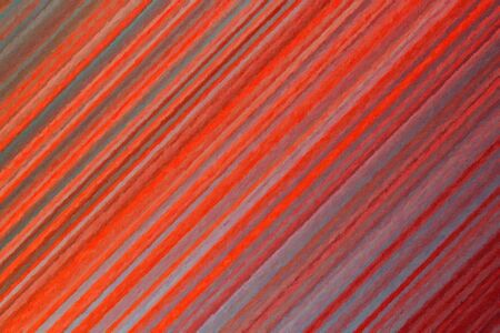 Red and yellow stripes Impasto abstract paint background.