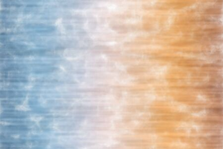Blue, yellow and brown stripes Watercolor Wash abstract paint background. Stock Photo