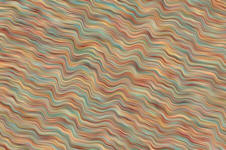 Red, blue and yellow waves vector background.