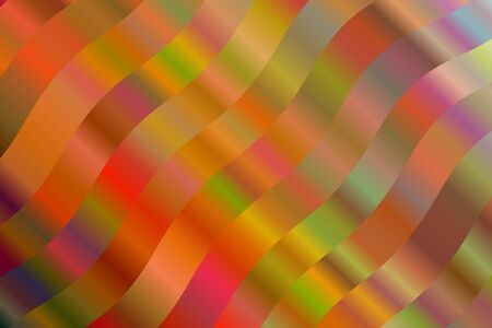Red, yellow and brown waves abstract vector background. Simple AI generated pattern. Illustration
