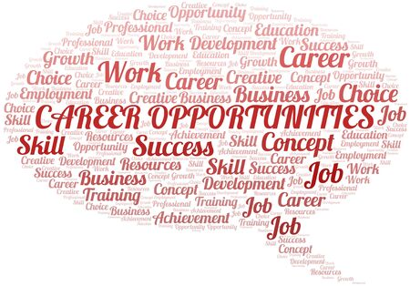 Career Opportunities typography vector word cloud. Word collage made with the text only. Ilustrace