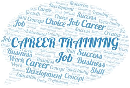 Career Training typography vector word cloud. Word cloud collage made with the text only. Ilustrace