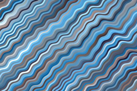 Blue and brown waves vector background.