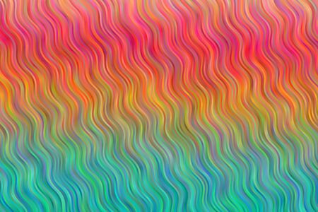 Red, yellow and blue waves vector background. Ilustrace