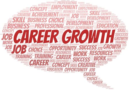 Career Growth typography vector word cloud. Word cloud collage made with the text only.