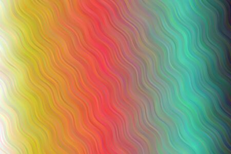 Yellow, white, red and green waves vector background.