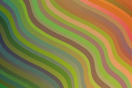 Blue, green and brown waves vector background.