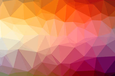 Illustration of abstract Blue, Orange, Pink, Red horizontal low poly background. Beautiful polygon design pattern.