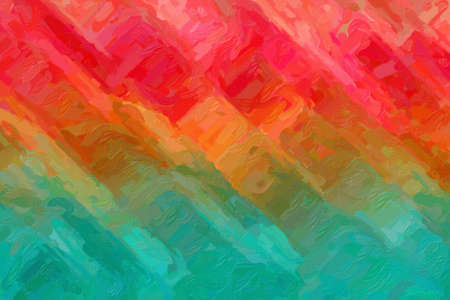 Red, yellow and blue lines Impressionist Impasto abstract paint background.