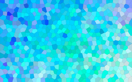 Abstract illustration of blue and green bright Small Hexagon background, digitally generated. 免版税图像