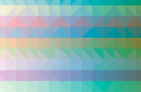 Illustration of abstract Blue, Yellow And Green horizontal low poly background. Beautiful polygon design pattern. 免版税图像