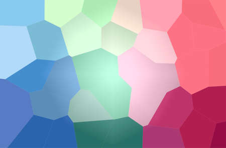 Abstract illustration of blue and red Giant Hexagon background