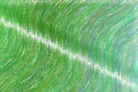 Green waves wax crayon with low coverage background, digitally created. 免版税图像