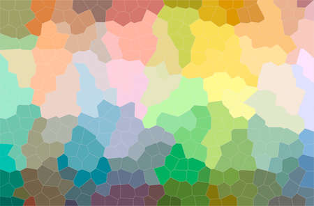 Abstract illustration of green, orange, yellow Little Hexagon background