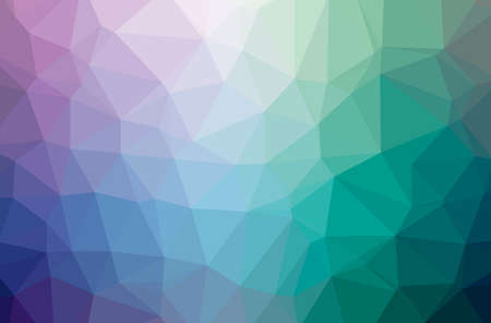 Illustration of abstract Blue And Purple horizontal low poly background. Beautiful polygon design pattern.