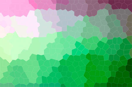 Abstract illustration of green, pink, red Little Hexagon background