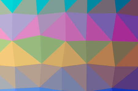Illustration of abstract Green, Purple, Yellow horizontal low poly background. Beautiful polygon design pattern.