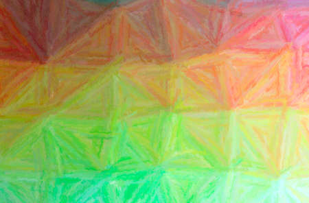 Abstract illustration of green, orange, yellow Long brush Strokes Pastel background 免版税图像