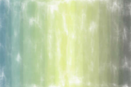 Yellow, green and light blue lines watercolor wash background, digitally created.