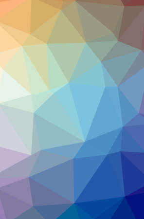 Illustration of abstract Blue, Red, Yellow And Green vertical low poly background. Beautiful polygon design pattern.