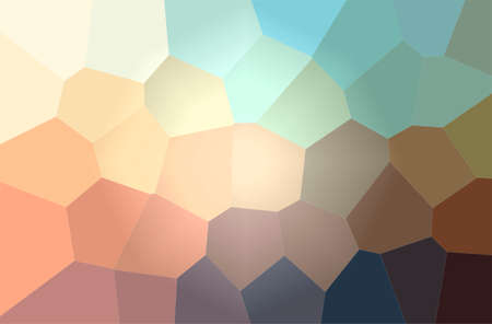 Illustration of abstract Orange And Blue Giant Hexagon Horizontal background.