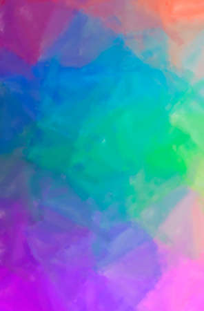 Abstract illustration of blue, red, yellow and purple Dry Brush Oil Paint background 版權商用圖片