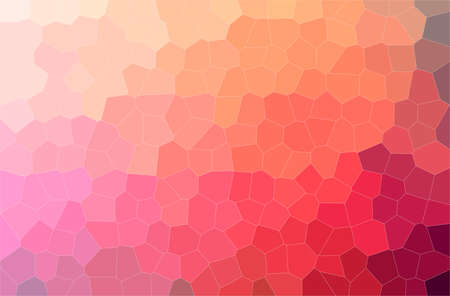 Abstract illustration of red Middle size Hexagon background