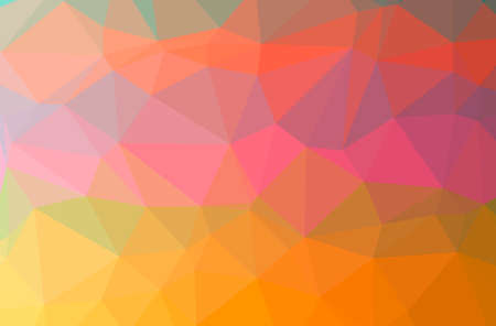Illustration of abstract Orange horizontal low poly background. Beautiful polygon design pattern. 免版税图像