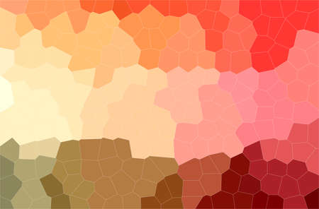 Abstract illustration of orange, pink, red Middle size Hexagon background