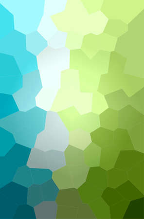 Abstract illustration of blue, green, yellow Big Hexagon background