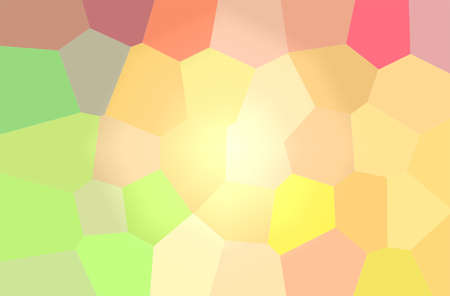 Abstract illustration of yellow and pink bright giant hexagon background.