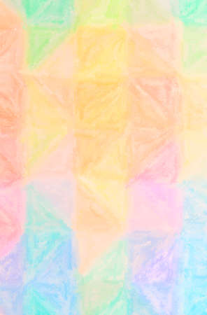 Abstract illustration of blue, orange, yellow Wax Crayon background