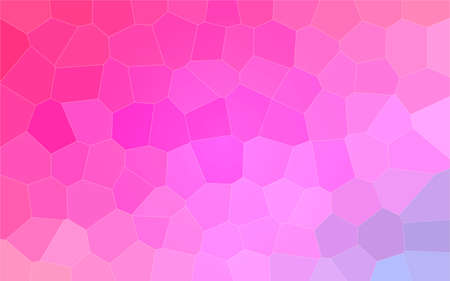 Abstract illustration of red purple and blue colorful Big Hexagon background, digitally generated.