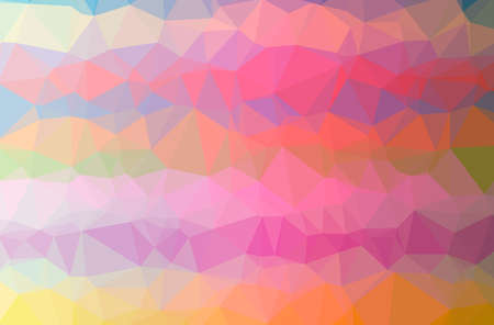Illustration of abstract Pink, Yellow horizontal low poly background. Beautiful polygon design pattern.