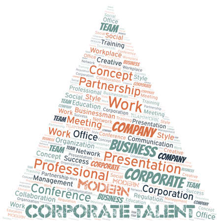 Corporate Talent vector word cloud, made with text only. 向量圖像