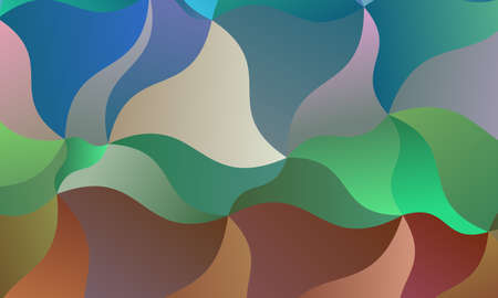Red, green, blue and brown polygonal abstract background. Great illustration for your needs.