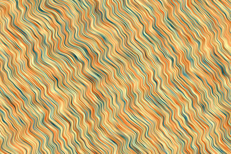 Orange, yellow and green waves abstract background. Great illustration for your needs.