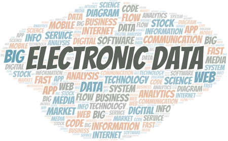 Electronic Data vector word cloud, made with text only. 矢量图像