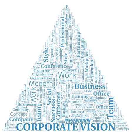 Corporate Vision vector word cloud, made with text only.
