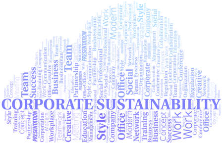 Corporate Sustainability vector word cloud, made with text only. 矢量图像