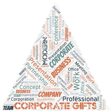Corporate Gifts vector word cloud, made with text only. 일러스트