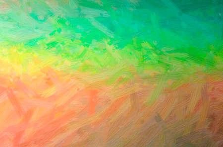 Illustration of green, blue, pink Bristie Brush Oil Paint paint background, digitally generated. 免版税图像