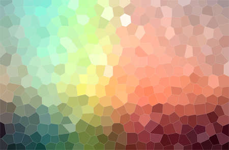 Abstract illustration of red, yellow, green and blue colorful little hexagon background.