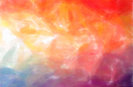 Abstract illustration of orange, pink, red Watercolor background 免版税图像