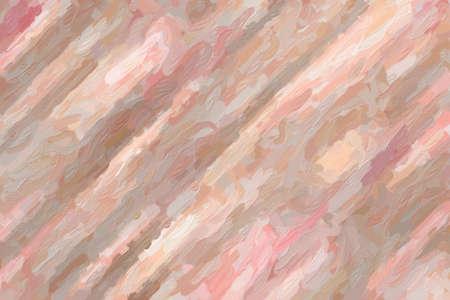 Pink lines impressionist impasto background, digitally created. 免版税图像