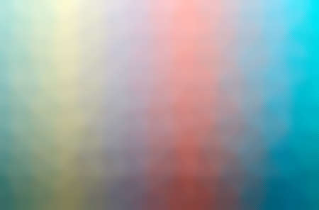 Abstract illustration of blue, pink, red, yellow through the tiny glass background